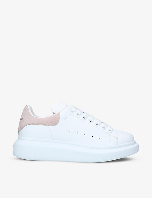ALEXANDER MCQUEEN: Women's Runway leather and suede platform trainers