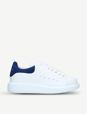 ALEXANDER MCQUEEN Runway leather and suede platform trainers