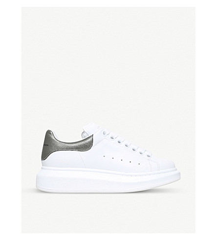 6673b9dd41fb ALEXANDER MCQUEEN Runway leather trainers (White blk