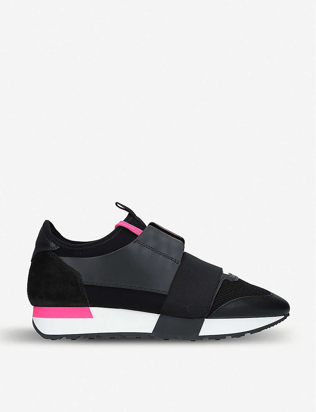Balenciaga Shoes Race Runners leather, suede and mesh trainers