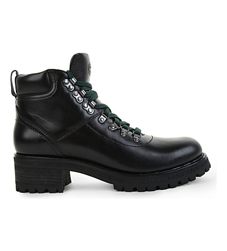 641c6f8ef9b TORY BURCH Gunton leather hiking bootie (Black