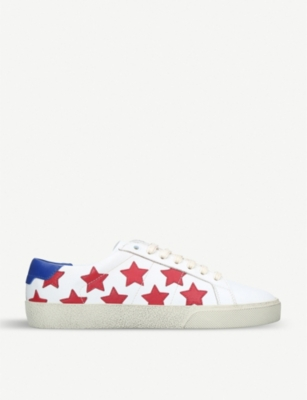 SAINT LAURENT Court Classic Star leather trainers