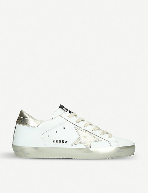 6b5be7611ec GOLDEN GOOSE Superstar E37 Sparkle leather trainers
