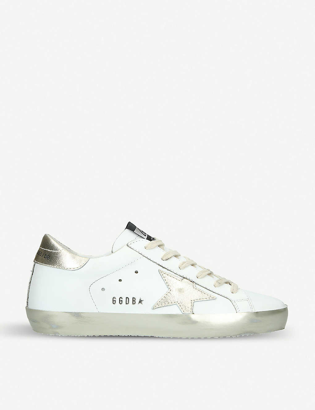GOLDEN GOOSE: Superstar E37 Sparkle leather trainers