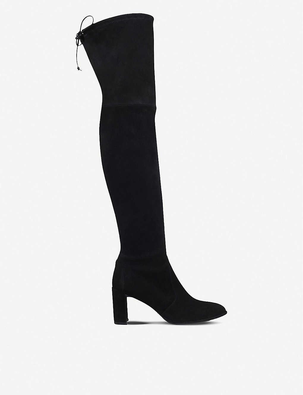 c90b0fd23 STUART WEITZMAN - Tieland suede over-the-knee boots | Selfridges.com