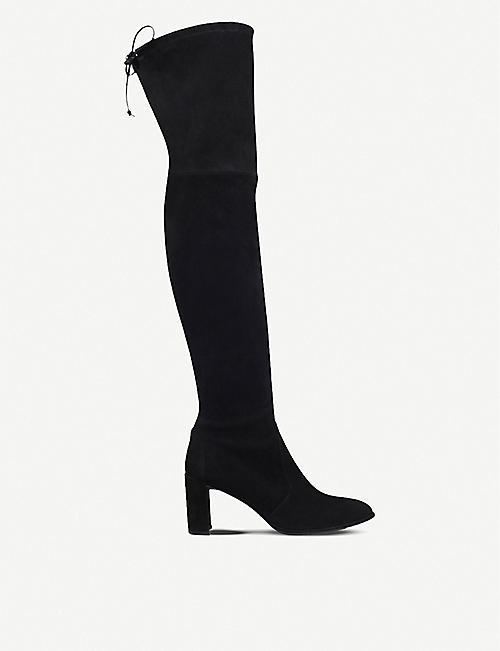 STUART WEITZMAN: Tieland suede over-the-knee boots