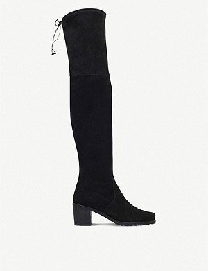 STUART WEITZMAN Urban suede over-the-knee boots