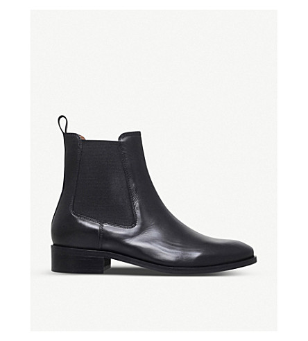 Dalby Leather Ankle Boots, Black