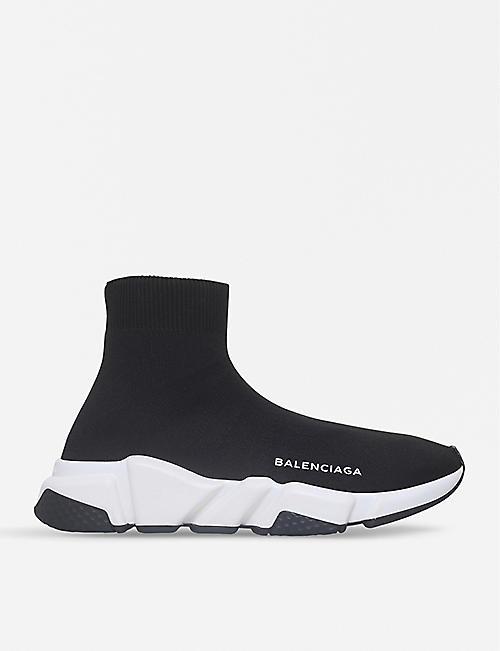 a04967013aa BALENCIAGA Speed woven mid-top trainers