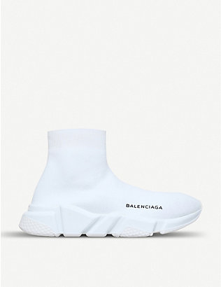 BALENCIAGA: Speed woven high-top trainers