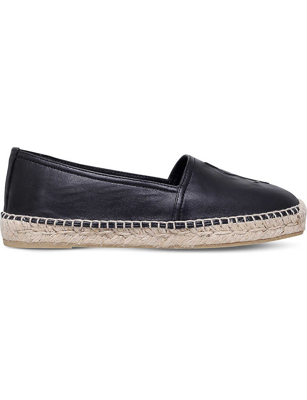 SAINT LAURENT: Leather espadrilles