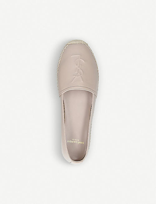 SAINT LAURENT Classic logo-detail leather espadrilles