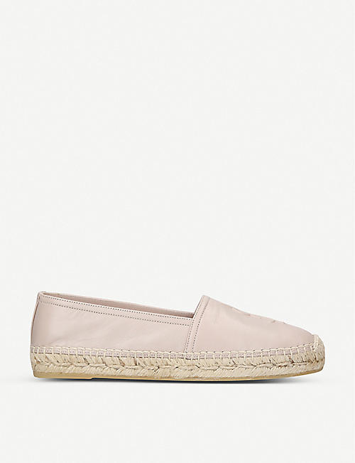 SAINT LAURENT: Classic logo-detail leather espadrilles