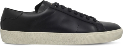 SAINT LAURENT Court classic leather trainers