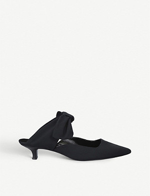 THE ROW Coco bow-embellished woven mules