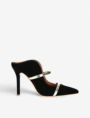 MALONE SOULIERS Maureen buckled velvet mules