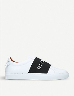 GIVENCHY: Knot elastic leather trainers