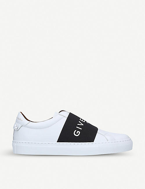 764d3610a59 GIVENCHY Elastic-strap low-top leather trainers