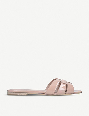 SAINT LAURENT Nu Pieds 05 patent-leather sandals