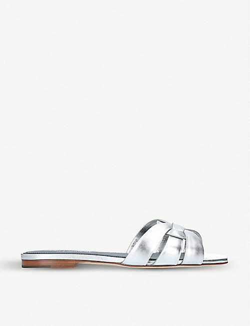 cbc257c8270 SAINT LAURENT - Flat sandals - Sandals - Womens - Shoes - Selfridges ...