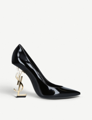 SAINT LAURENT Opyum patent leather courts
