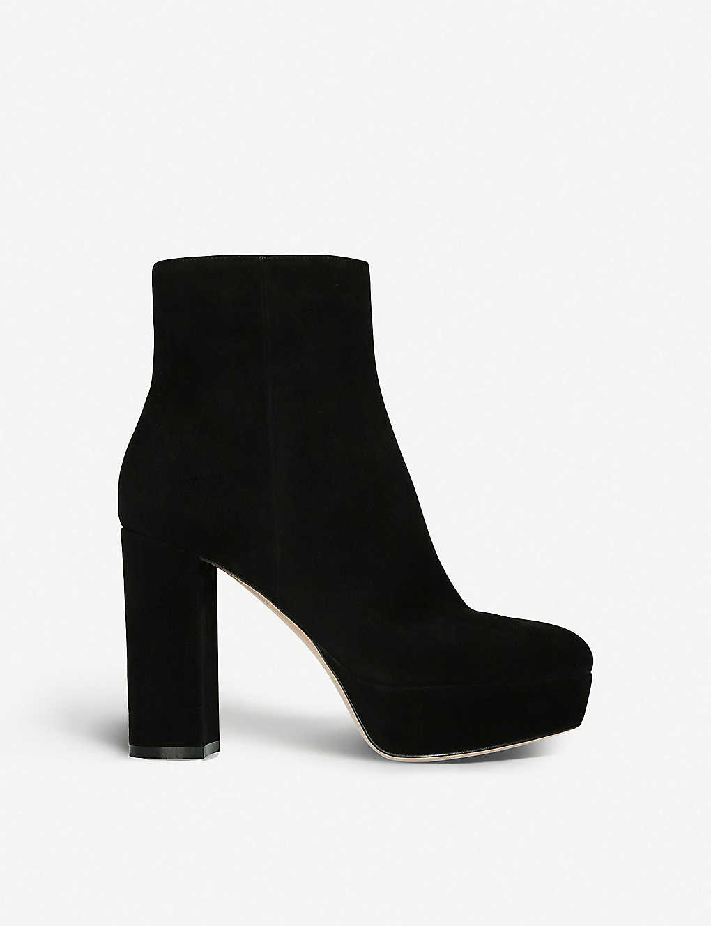 GIANVITO ROSSI - Foley platform suede ankle boots