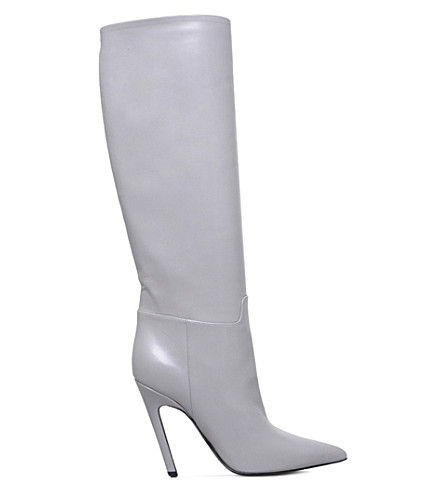 c4e571a7fc29 BALENCIAGA Slash leather heeled boots (Grey light