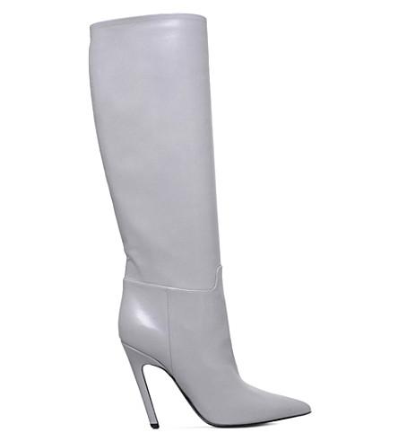 c4e571a7fc29 BALENCIAGA Slash leather heeled boots (Grey light