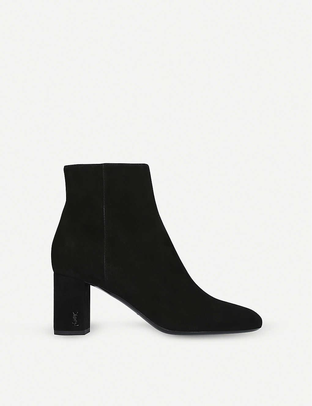 98b9acab939 SAINT LAURENT - Loulou 70 suede ankle boots   Selfridges.com
