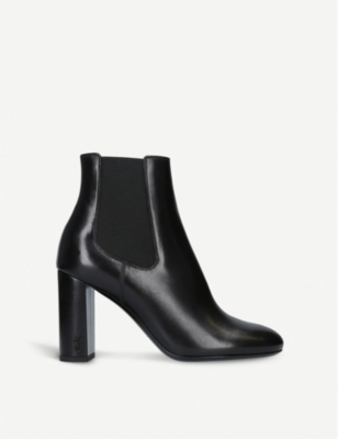 SAINT LAURENT Loulou 95 leather Chelsea boots