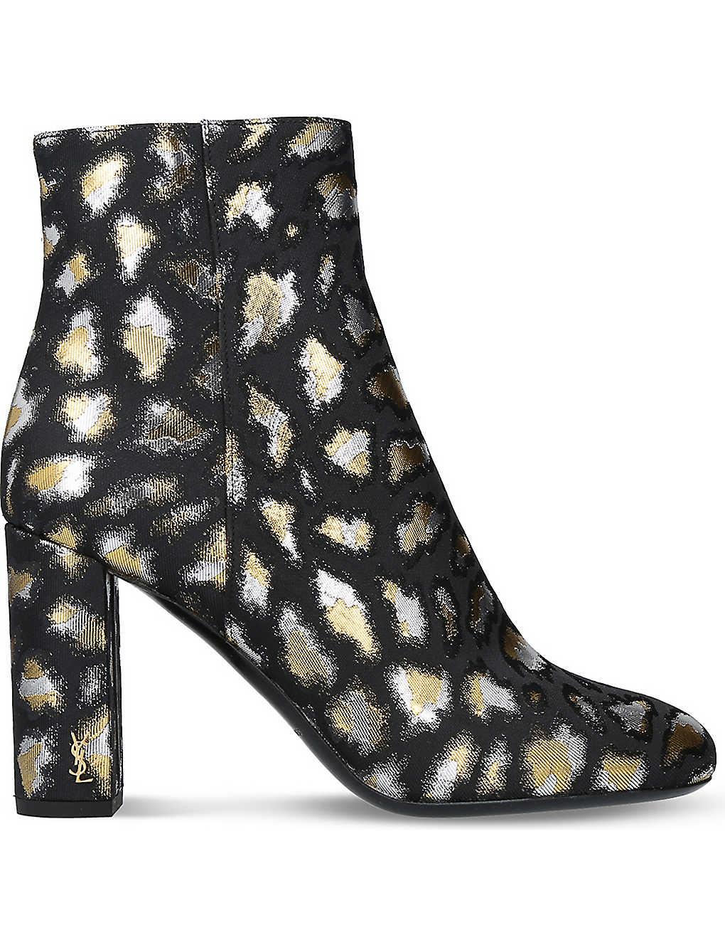 06b6bf59512 SAINT LAURENT - Loulou metallic ankle boots   Selfridges.com