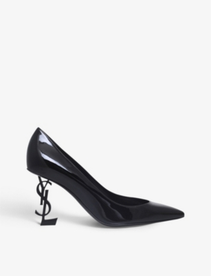 SAINT LAURENT Opyum 85 patent-leather courts