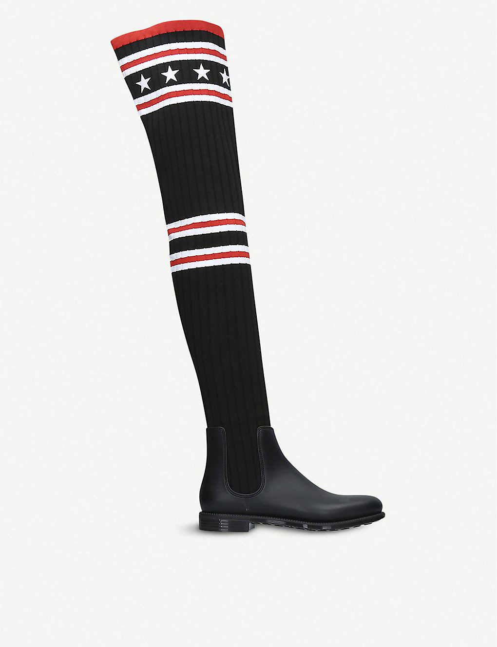 Givenchy Boots Storm rubber and cotton rainboots