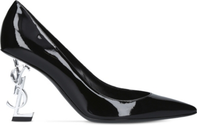 SAINT LAURENT Opyum 85 patent leather courts