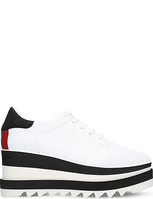 6272529314f STELLA MCCARTNEY Elyse faux-leather flatform trainers