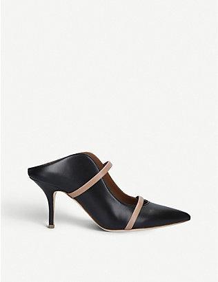 MALONE SOULIERS: Maureen leather heeled mules