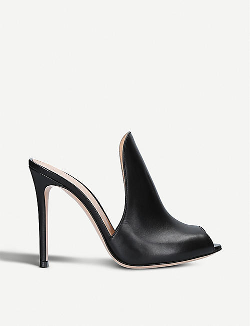 93a40ecdf5ca40 GIANVITO ROSSI Aramis 105 leather heeled mules