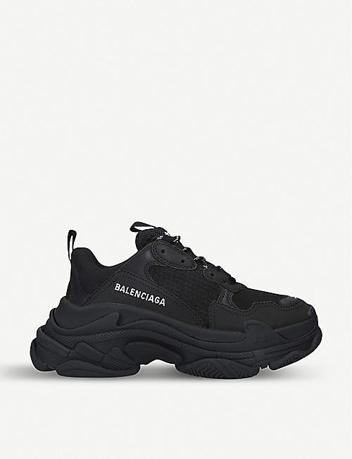 84862973ff6 BALENCIAGA Triple S suede and mesh trainers