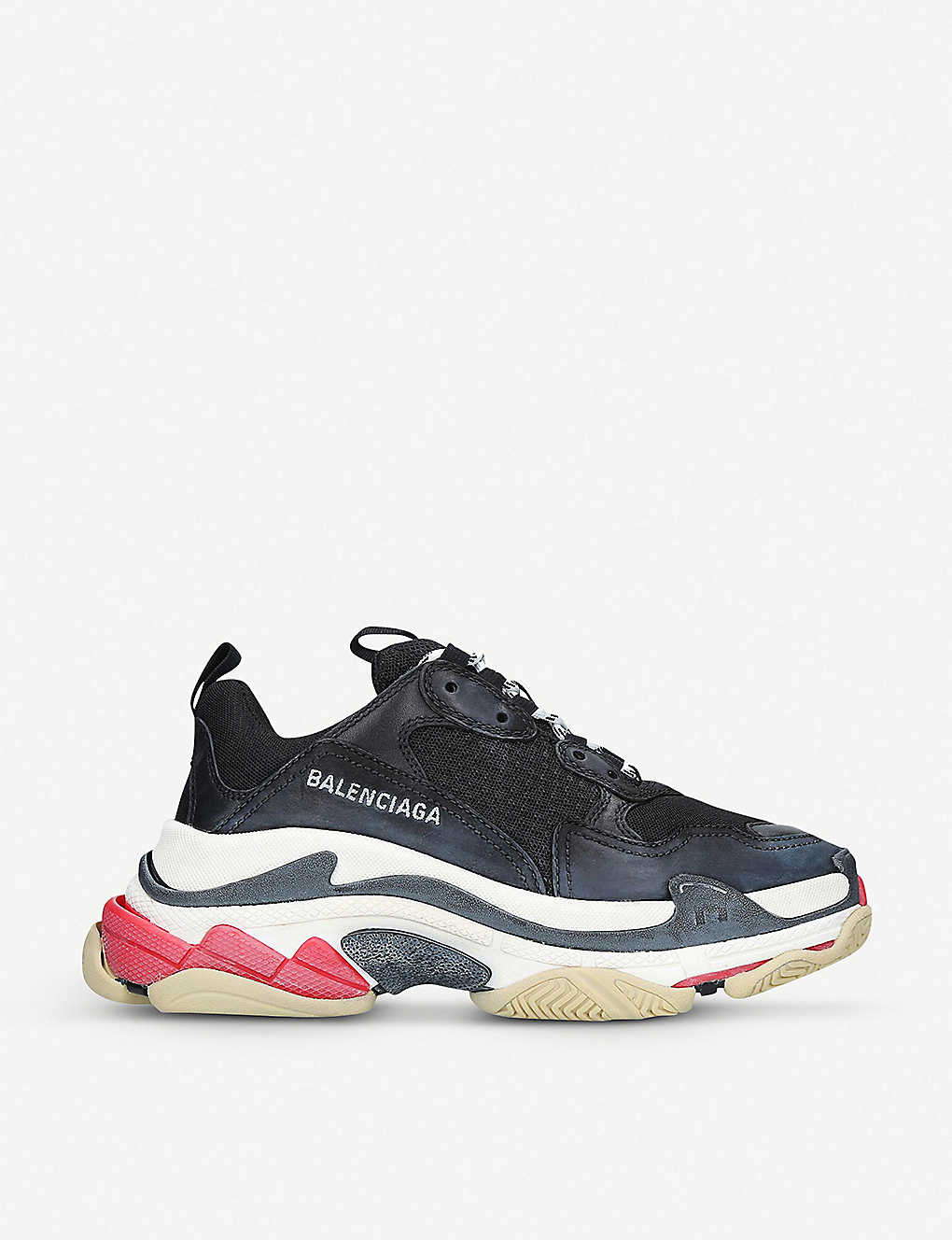 0a10b94b7aec Triple S leather and mesh trainers - Blkother ...