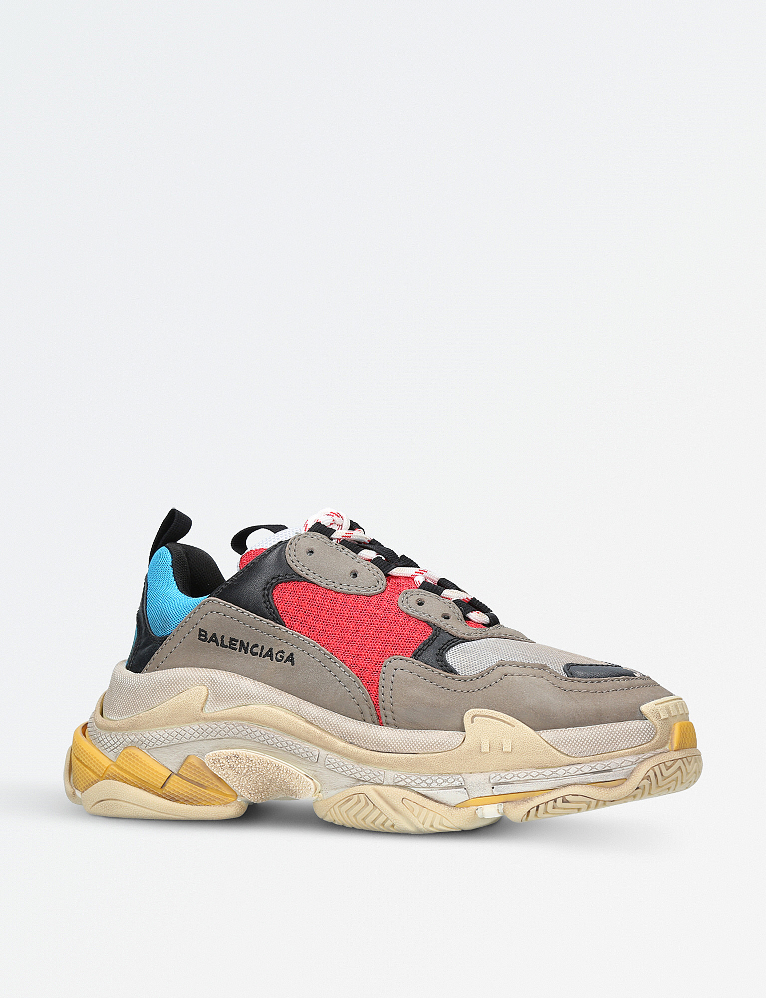 62864d737c37 BALENCIAGA - Triple S suede and mesh trainers