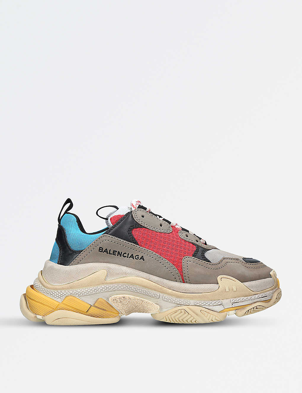 e15c68827908 BALENCIAGA - Triple S suede and mesh trainers