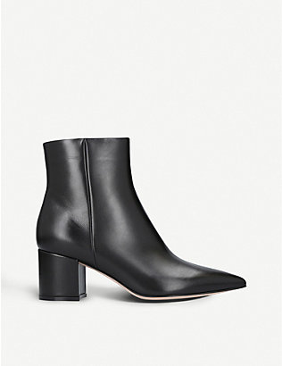GIANVITO ROSSI: Piper 60 leather ankle boots