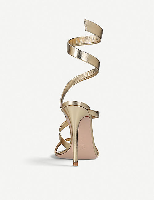 GIANVITO ROSSI Opera 105 leather heeled sandals