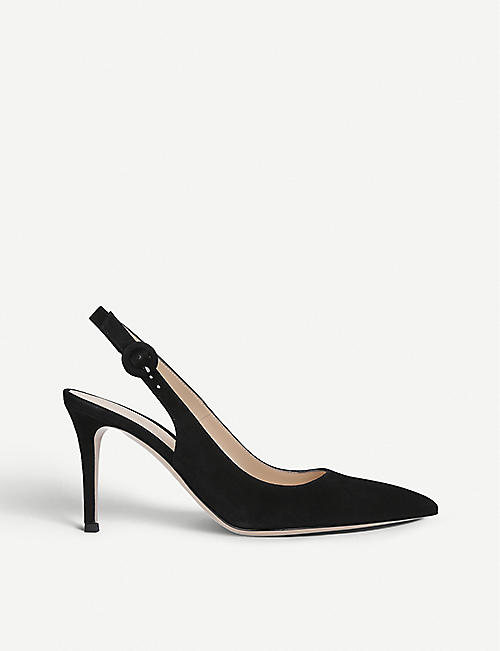 ba1b6916304 GIANVITO ROSSI Anna 85 patent-leather slingback courts