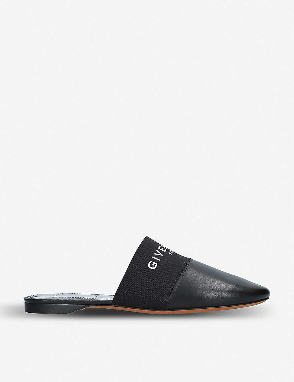 3aea917c63d3 GIVENCHY - Bedford logo-print leather backless mules