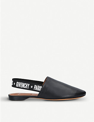 GIVENCHY: Rivington leather mules