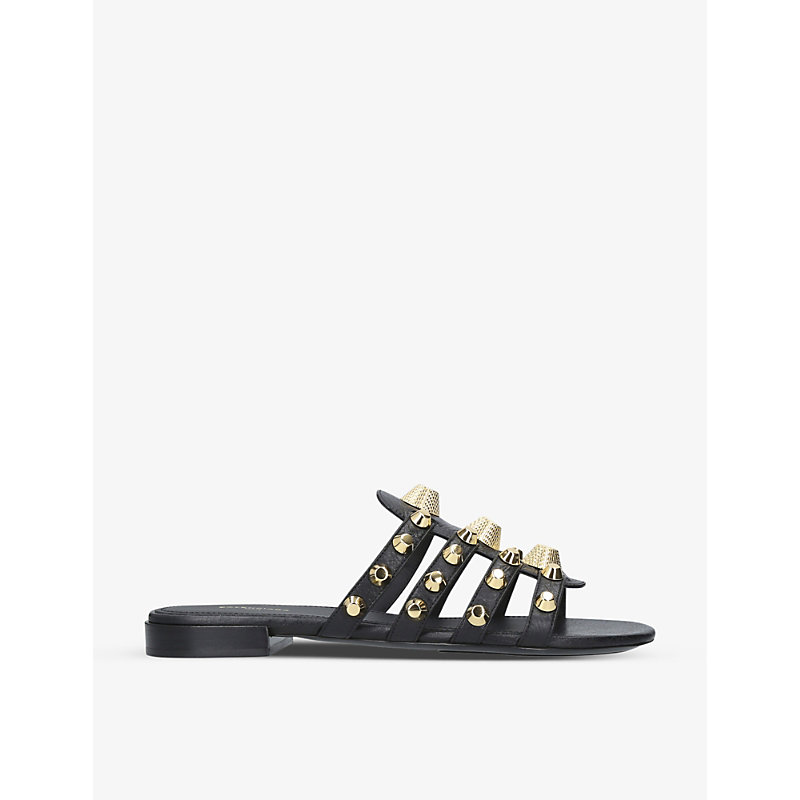 BALENCIAGA   Gwen Studded Leather Sandals   Goxip