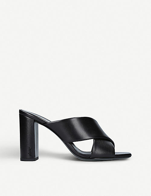 Sandals for Women On Sale, Black, Leather, 2017, 2.5 4 4.5 Saint Laurent