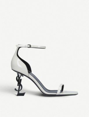 SAINT LAURENT Opyum 85 patent-leather sandals