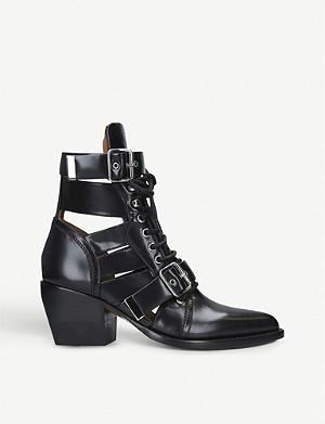 ef3b60fd58 CHLOE - Susanna studded leather ankle boots   Selfridges.com